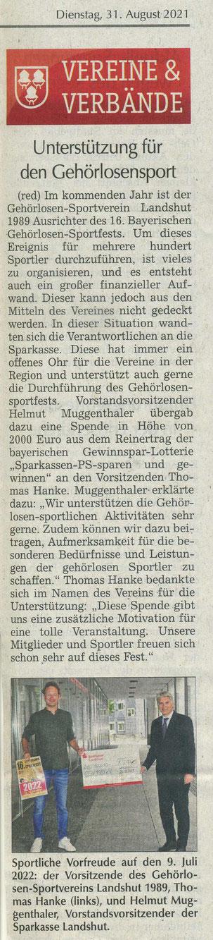 Quelle: Landshuter Zeitung 31.08.2021