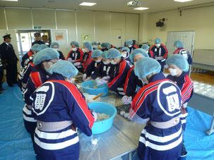 川崎町婦人消防協力隊 応急炊き出し訓練