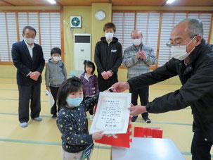 一関千厩 花貫自治会 「感心な子供表彰」