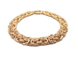Bracciale maglia bizantina in oro giallo 18 kt