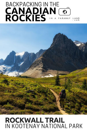 Day by day breakdown of the Rockwall Trail in Kootenay National Park. Entails information about campsites bookings and transport between the trailheads.  #hiking #Canadian Rockies