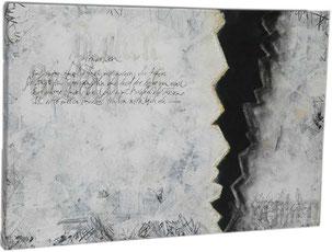 Schriftkunst abstrakt schwarzundweiss