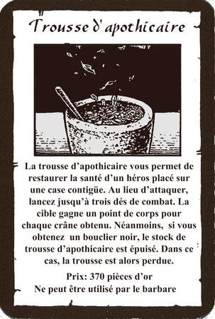 """Carte bonus """"Trousse d'Apothicaire"""""""