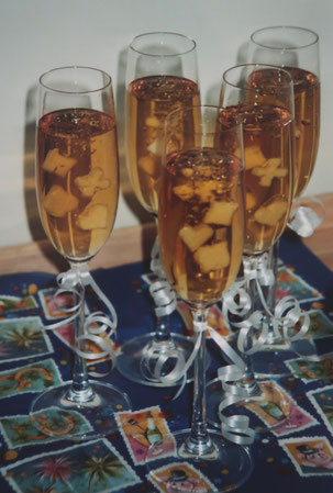 Silvester-Dessert: Apfel-Sekt-Gelee