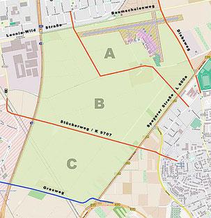 Vom NABU Heidelberg neu geplantes Airfield