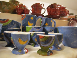 Keramik Markt am Plauer See, Vielfarbenhaus,