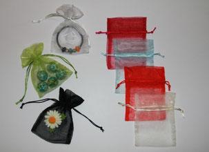mit feinen Organza-Säcklein schön verpacken