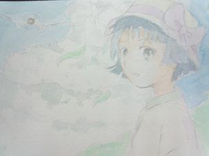 2013/8/13 映画『風立ちぬ』より  菜穂子 (透明水彩)