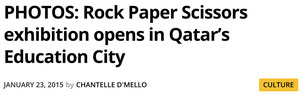 Some coverage in Doha News for Rock Paper Scissors.