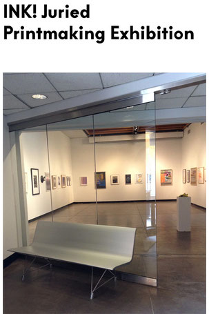"""Fixed Location"" and ""Point of Light"" selected by Printeresting Founders for a printmaking show at the Silpe Gallery at Hartford School of Art in Connecticut."