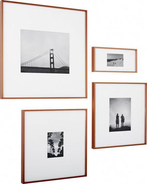 Three Picture Framing Trends For 2019 by PASiNGA, image of copper frames via Pinterest