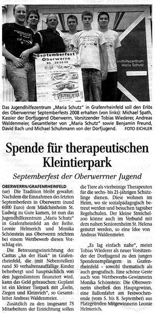22.08.2008 Schweinfurter Tagblatt