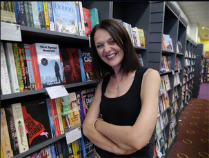 Tanya Bullock With Her 1st Novel That Special Someone at Waterstones, Walsall