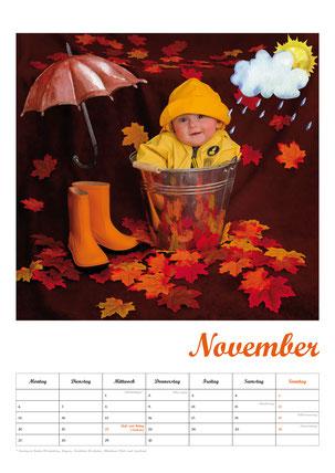 Baby-Fotokalender, Kalenderblatt November