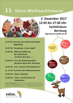 Programm Salus - Weihnachtsbasar