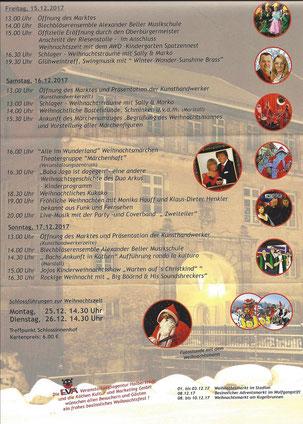 Programm 8. Köthener Schlossweihnacht