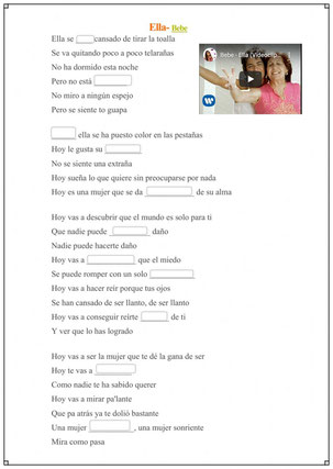 """""""Ella"""" - Bebe  (Canción para completar letra)"""