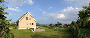 Ferienhaus Kamminke mit Blick über das Haff in Richtung Altwarp - bis zu 10 Personen