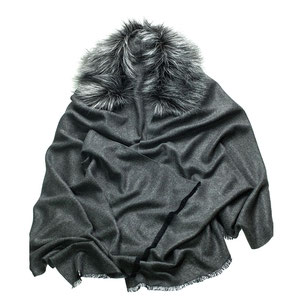 Cape Kunst Seide Unechta Shop faux fur