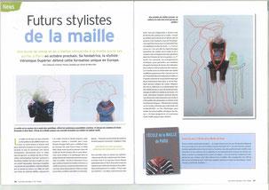"""l'Ecole de la Maille de Paris dans """"Fait main"""" 8/2011"""