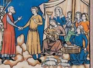 Maciejowski-Bibel: Folio 4v