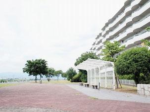枚方市出口エリアのスーパー堤防