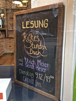 Am Dienstag den 9.12., findet bei uns mal wieder eine Lesung mit  Gerdt Heser und Ulrich Meier statt ! Wir freuen uns auf euren Besuch,  passend zu dem Wetter gibt es natürlich  auch hausgemachten Glühwein…..