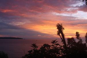 Chocó Pazifik Sonnenuntergang traumhaft