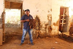 Autorundreise Boyaca Kolumbien Barichara Tabakprozess