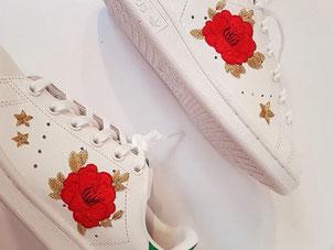 Sneakers brodées personnalisables