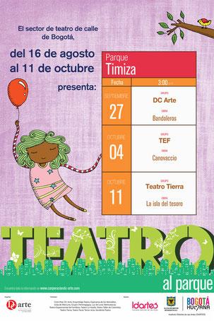 Teatro al Parque 2015 Programación Parque Timiza