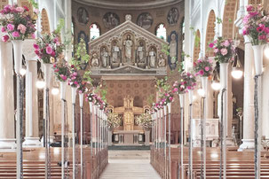 Kirchenschmuck Dekoration Kirche Hochzeit