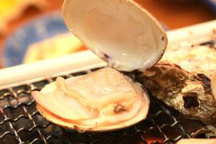 ハマグリの海鮮焼き