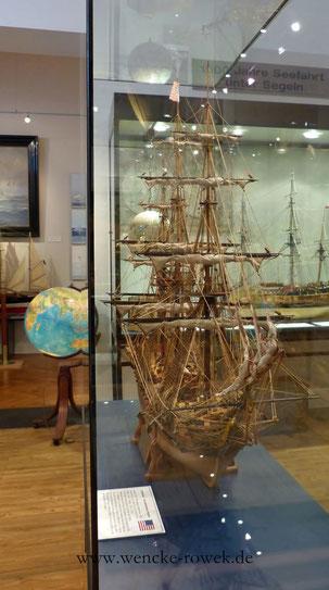 Front der Constitution im Schiffahrtsmuseum Nordfriesland