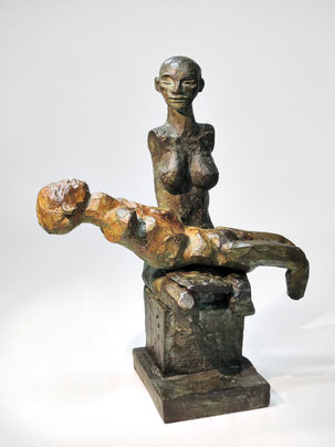 Figur 264 +  265, Bronze, 2015, 30x23x12cm