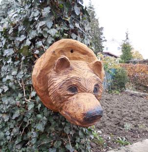 Bärenkopf aus Eiche