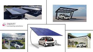 SMART cs PV Solar Carports | PV Carport | EV Charging Station | Wallbox