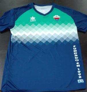 Camiseta del cdpabloiglesias temporada 2018-2019 verde, azul y blanco
