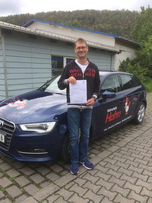 Johannes Graßl, Autoführerschein 05.05.2017 in Wertheim
