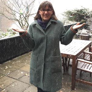 Wintermantel aus Harris Tweed
