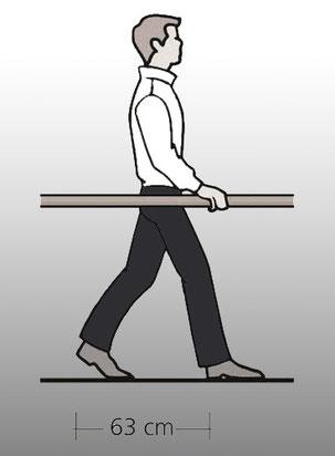 Bucher Treppen - Schrittmaßregel bei Treppen
