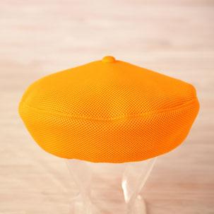 洗えるベレー帽 オレンジ