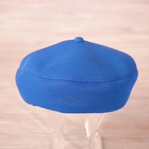洗えるベレー帽 ブルー