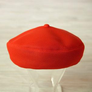 メッシュベレー帽 レッド
