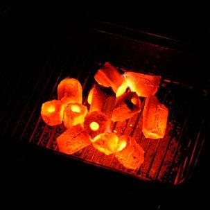 オガ備長炭に火をつける方法