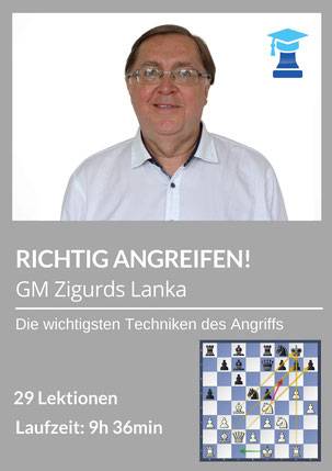 Richtig angreifen im Schach, GM Zigurds Lanka