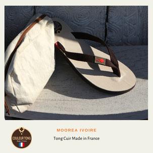 Tong cuir fabrication Française