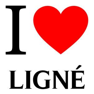j'aime ligné écrit avec un coeur rouge