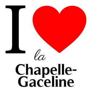 j'aime la chapelle gaceline écrit avec un coeur rouge