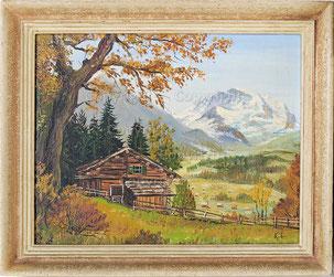 Nr.2145   Alphütte mit Jungfrau